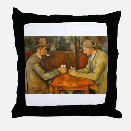 Famous Paintings: The Card Players Throw Pillow