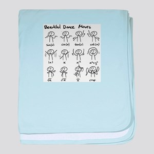 Beautiful (math) dance moves baby blanket