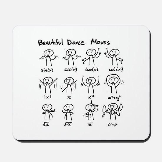 Beautiful (math) dance moves Mousepad