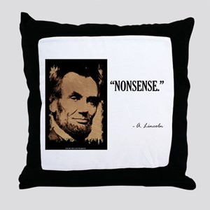 Nonsense Throw Pillow