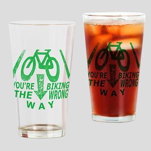 Biking Drinking Glass