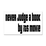 Never Judge A Book By Its Movie Rectangle Car Magn