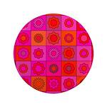 Red Pink Hippie Flower Pattern 3.5