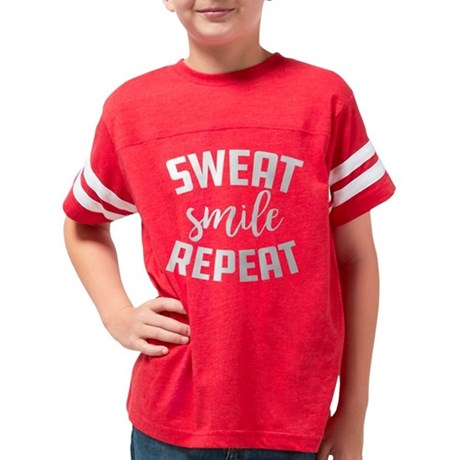 Sweat Smile Repeat Youth Football Shirt
