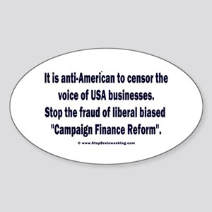Devious Liberal Censors Sticker (Oval)