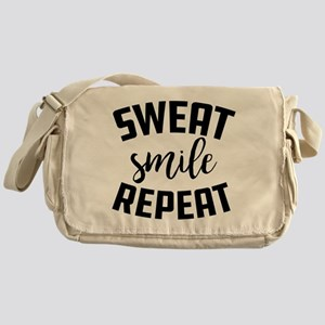Sweat Smile Repeat Messenger Bag