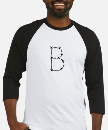 Barbed Wire Monogram B Baseball Jersey