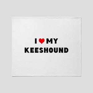 i luv my keeshound Throw Blanket
