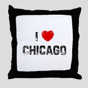 I * Chicago Throw Pillow
