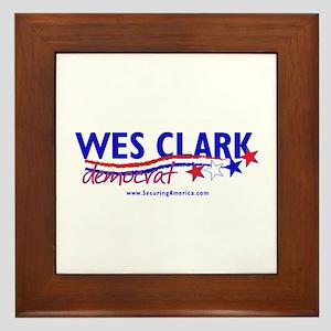 """""""Wes Clark Dem"""" Framed Tile"""
