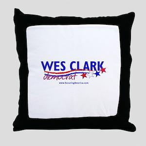 """Wes Clark Dem"" Throw Pillow"