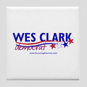 """""""Wes Clark Dem"""" Tile Coaster"""