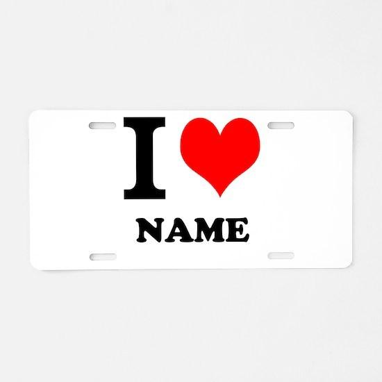 I Heart Aluminum License Plate