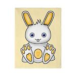 Kawaii Yellow Bunny Twin Duvet