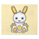 Kawaii Yellow Bunny King Duvet