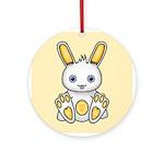 Kawaii Yellow Bunny Ornament (Round)