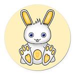 Kawaii Yellow Bunny Round Car Magnet