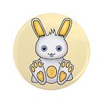 "Kawaii Yellow Bunny 3.5"" Button (100 pack)"