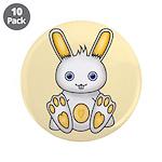 "Kawaii Yellow Bunny 3.5"" Button (10 pack)"