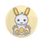 """Kawaii Yellow Bunny 3.5"""" Button"""
