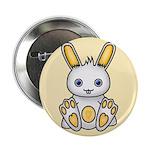 """Kawaii Yellow Bunny 2.25"""" Button"""