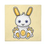 Kawaii Yellow Bunny Queen Duvet