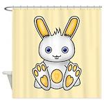 Kawaii Yellow Bunny Shower Curtain