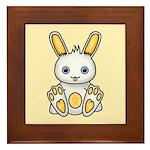 Kawaii Yellow Bunny Framed Tile
