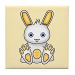 Kawaii Yellow Bunny Tile Coaster