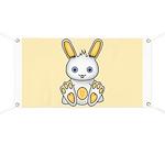 Kawaii Yellow Bunny Banner