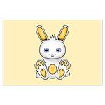 Kawaii Yellow Bunny Posters