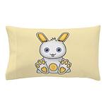 Kawaii Yellow Bunny Pillow Case
