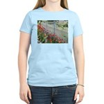 Tulips Along White Picket Fence T-Shirt