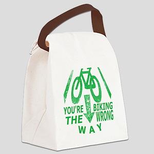 Biking Canvas Lunch Bag