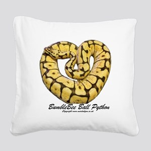 Bumblebee Ball Python Square Canvas Pillow