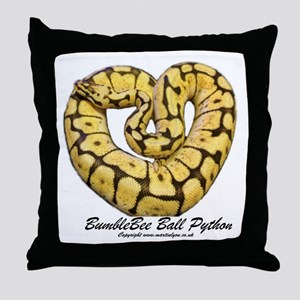 Bumblebee Ball Python Throw Pillow