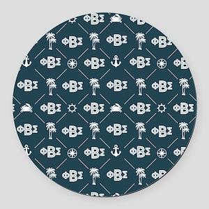 Phi Beta Sigma Round Car Magnet