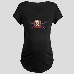 Ski Utah Maternity Dark T-Shirt