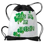 Kiss Me I'm Irish Drawstring Bag