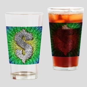 Dollar Sign Pop Art Drinking Glass