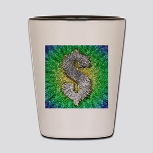 Dollar Sign Pop Art Shot Glass