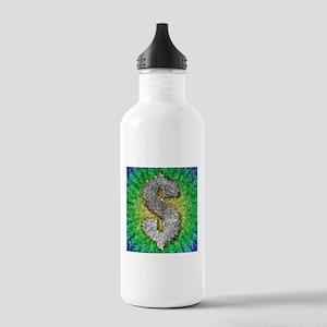 Dollar Sign Pop Art Water Bottle