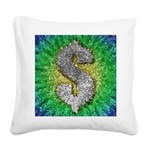 Dollar Sign Pop Art Square Canvas Pillow