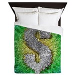 Dollar Sign Pop Art Queen Duvet