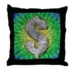 Dollar Sign Pop Art Throw Pillow