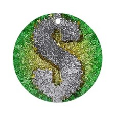 Dollar Sign Pop Art Ornament (Round)