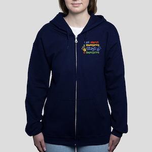 Stays In Kindergarten Women's Zip Sweatshirt