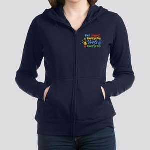 Stays In Kindergarten Women's Zip Sweatshirt