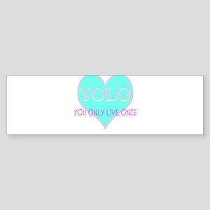 Heart Yolo Bumper Sticker