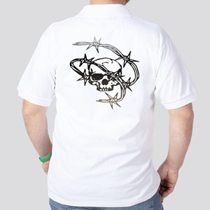 Halloween Barbed Skull Golf Shirt